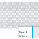 Perforatie rotunda R1.1 T2 - Perforatii rotunde intre 1 si 4 mm