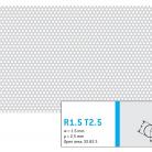 Perforatie rotunda R1.5 T2.5 - Perforatii rotunde intre 1 si 4 mm