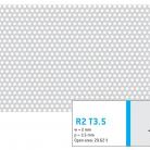 Perforatie rotunda R2 T3.5 - Perforatii rotunde intre 1 si 4 mm