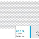 Perforatie rotunda R2.5 T4 - Perforatii rotunde intre 1 si 4 mm