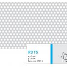 Perforatie rotunda  R3 T5 - Perforatii rotunde intre 1 si 4 mm