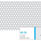Perforatie rotunda R3 T6 - Perforatii rotunde intre 1 si 4 mm