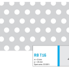 Perforatie rotunda R8 T16 - Perforatii rotunde intre 5 si 10 mm