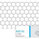 Perforatie rotunda R10 T12 - Perforatii rotunde intre 5 si 10 mm