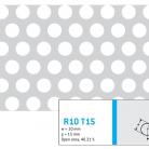 Perforatie rotunda R10 T15 - Perforatii rotunde intre 5 si 10 mm
