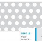 Perforatie rotunda R10 T18 - Perforatii rotunde intre 5 si 10 mm