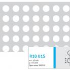 Perforatie rotunda R10 U15 - Perforatii rotunde intre 5 si 10 mm