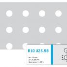 Perforatie rotunda R10 U25.98 - Perforatii rotunde intre 5 si 10 mm