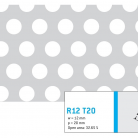 Perforatie rotunda R12 T20 - Perforatii rotunde intre 12 si 30 mm