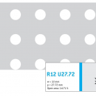 Perforatie rotunda R12 U27.72 - Perforatii rotunde intre 12 si 30 mm