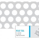 Perforatie rotunda R15 T21 - Perforatii rotunde intre 12 si 30 mm