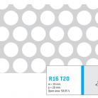 Perforatie rotunda R16 T20 - Perforatii rotunde intre 12 si 30 mm
