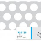 Perforatie rotunda R20 T28 - Perforatii rotunde intre 12 si 30 mm