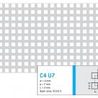 Perforatie patrata C4 U7 - Perforatii patrate intre 3 si 10 mm