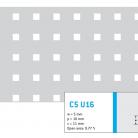 Perforatie patrata C5 U16 - Perforatii patrate intre 3 si 10 mm