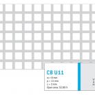 Perforatie patrata C8 U11 - Perforatii patrate intre 3 si 10 mm