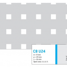 Perforatie patrata C8 U24 - Perforatii patrate intre 3 si 10 mm