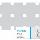 Perforatie patrata C9.2 U34 - Perforatii patrate intre 3 si 10 mm