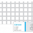 Perforatie patrata C10 U14 - Perforatii patrate intre 3 si 10 mm