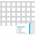Perforatie patrata C10 U15 - Perforatii patrate intre 3 si 10 mm