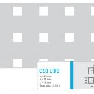 Perforatie patrata C10 U30 - Perforatii patrate intre 3 si 10 mm