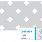 Perforatie patrata CD10 M30 - Perforatii patrate intre 3 si 10 mm