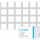 Perforatie patrata C15 U20 - Perforatii patrate intre 15 si 25 mm