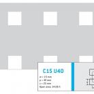 Perforatie patrata C15 U40 - Perforatii patrate intre 15 si 25 mm