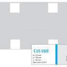 Perforatie patrata C15 U60 - Perforatii patrate intre 15 si 25 mm