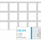 Perforatie patrata C20 U25 - Perforatii patrate intre 15 si 25 mm