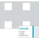 Perforatie patrata C20 U50 - Perforatii patrate intre 15 si 25 mm