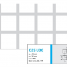 Perforatie patrata C25 U30 - Perforatii patrate intre 15 si 25 mm