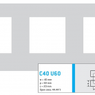 Perforatie patrata C40 U60 - Perforatii patrate intre 30 si 50 mm