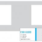Perforatie patrata C50 U100 - Perforatii patrate intre 30 si 50 mm