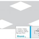 Perforatie decorativa Rhomb1 - Perforatii decorative
