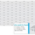 Perforatie alungita LR1.5x20 Z3.75x24 - Perforatii alungite