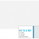Perforatie hexagonala H2 T2.5 90 ° - Perforatii hexagonale