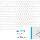 Perforatie hexagonala H4.5 T5 - Perforatii hexagonale