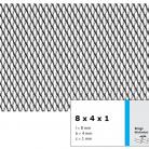 Tabla expandata 8 x 4 x 1 - Grilaje din tabla expandata - romb