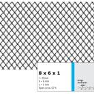 Tabla expandata 8 x 6 x 1 - Grilaje din tabla expandata - romb