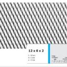 Tabla expandata 12 x 6 x 2 - Grilaje din tabla expandata - romb