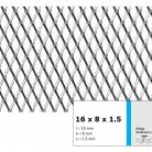 Tabla expandata 16 x 8 x 1.5 - Grilaje din tabla expandata - romb