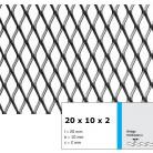 Tabla expandata 20  x 10 x 2 - Grilaje din tabla expandata - romb