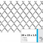 Tabla expandata 20  x 15 x 1.5 - Grilaje din tabla expandata - romb