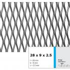 Tabla expandata 28  x 9 x 2.5 - Grilaje din tabla expandata - romb