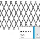 Tabla expandata 28  x 13 x 2 - Grilaje din tabla expandata - romb
