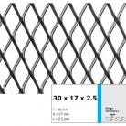 Tabla expandata 30  x 17 x 2.5 - Grilaje din tabla expandata - romb