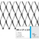 Tabla expandata 40  x 17  x 2.5 - Grilaje din tabla expandata - romb