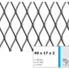 Tabla expandata 40  x 17 x 2 - Grilaje din tabla expandata - romb