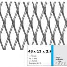 Tabla expandata 43  x 13  x 2.5 - Grilaje din tabla expandata - romb